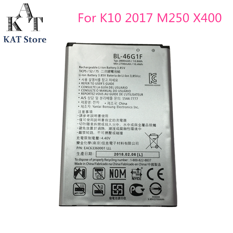 Phone-Battery Battery-Replacement BL-46G1F 2800mah K10 For LG High-Quality AAA Ms250x400