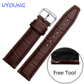 Quality Leather Band For Watch 20mm 22mm For moto 360 2nd Replace Strap Black Brown Mens Watch accessories