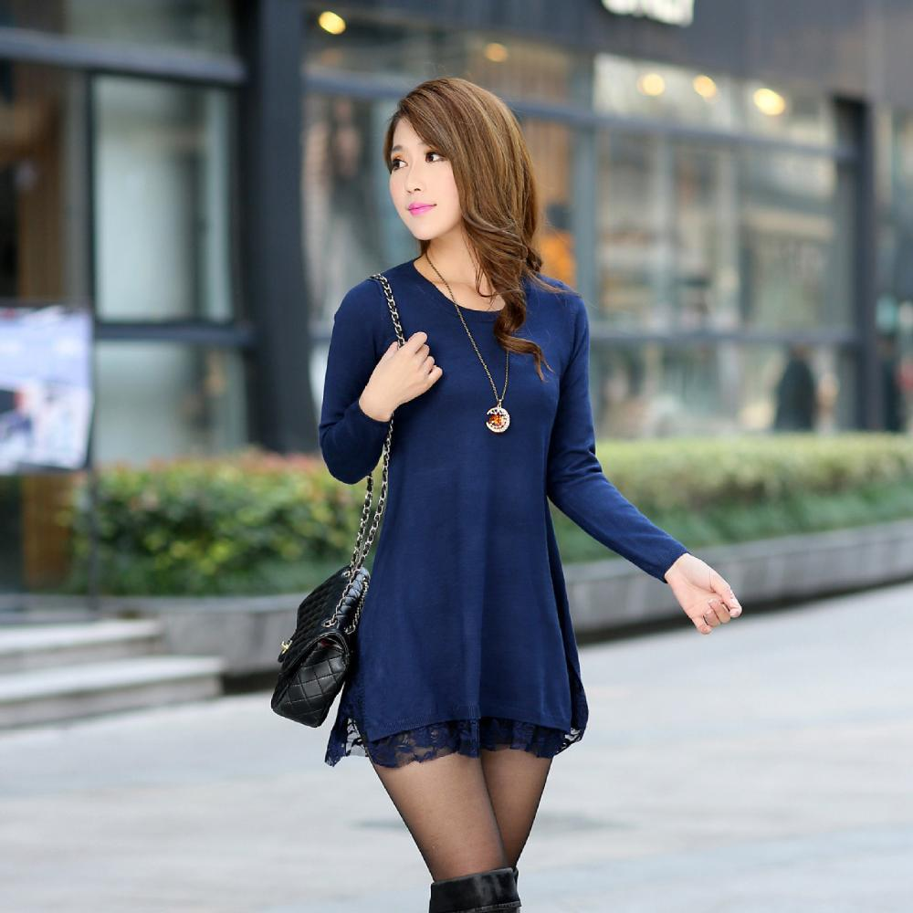 Autumn Winter Pullover 2014 Womens New Fashion Sweaters Long Style