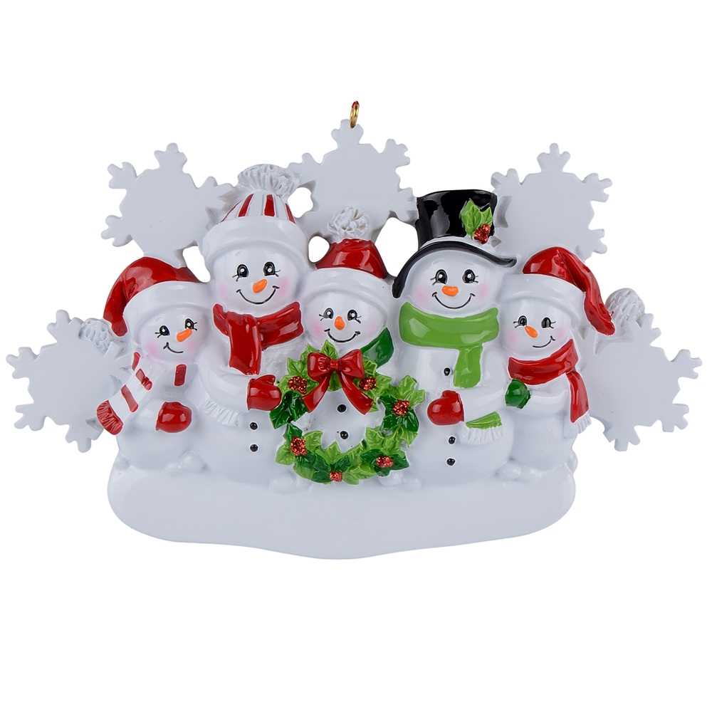 Wholesale Snowman Family of 5 Resin Christmas Tree ...