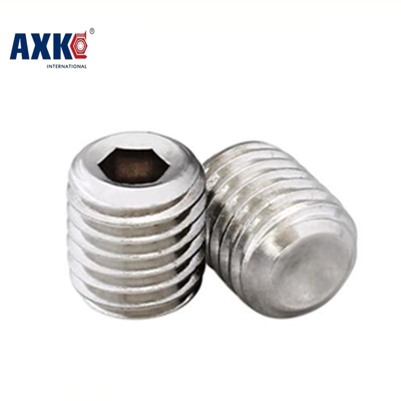 5-20pcs/lot M10X6/8/10/12/16/20/25/30/35/40/45/50 stainless steel 304 hex socket cup point set screws grub screws AXK 465 винт hexagon socket screw 10 16 20 25 30 35 40 45 50 55 60 65 120