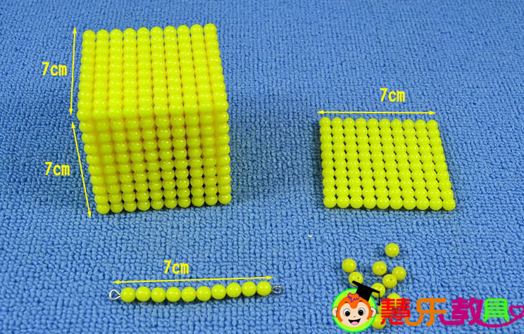 Baby Toy Montessori Golden Bead 1000+100+10+10 Math Early Childhood Education Preschool Training Kids Toys Brinquedos Juguetes