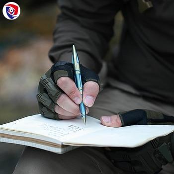Titanium Tactical Pen | 2018 Outdoor Titanium Alloy Self Defense Survival Safety Tactical Pen Pencil With Writing Multi-functional Tungsten Steel Head