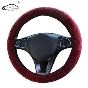 Image 2 - Winter Australian SheepSkin Wool Steering Wheel Cover/Cahsmere handlebar braid on the steering wheel with Anti skid base fabric