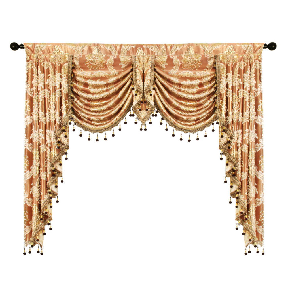 European Style Modern Jacquard Curtains Valance for Living Room Pelmet Window Blackout Luxury Valance fabric For Bedroom
