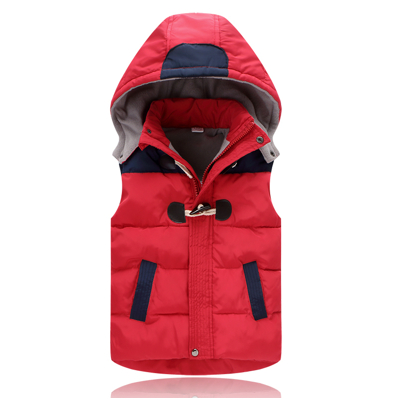 Winter Children's Girl Waistcoat With Thicken Hooded Coat Infant Bebe Sleeveless Cotton Jacket Kids Roupas Boy Clothes Outwear