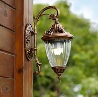 European LED Wall lamp Outdoor Wall Sconce Lighting Waterproof Garden Wall Light Fixtures Aluminum Glass Vintage Porch Lights