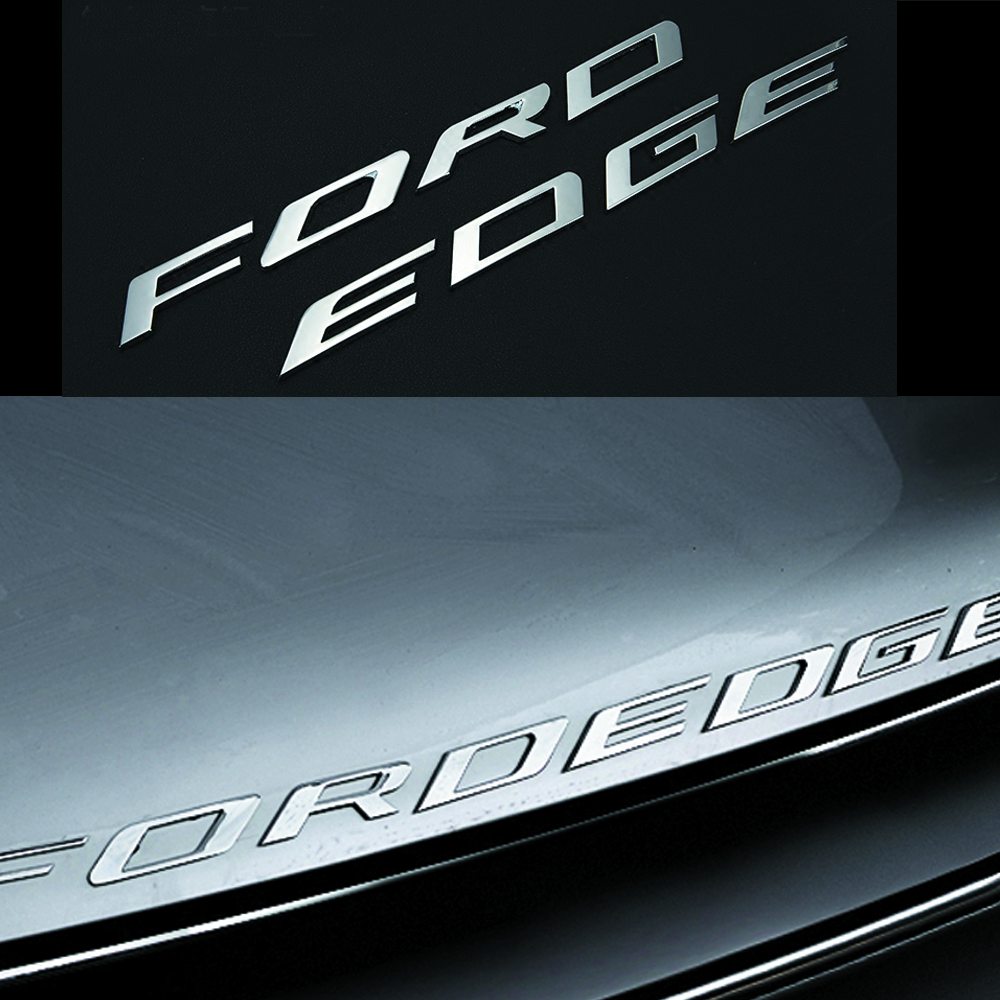 Car styling Chrome Silver/Black For 2014 2015 2016 2017 Ford EDGE FORDEDGE Explorer New Metal 3D hood emblem letters