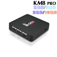 10pcs Lot Amlogic S912 KM8 PRO Android 6 0 TV Box Octa Core 2G 16G Or