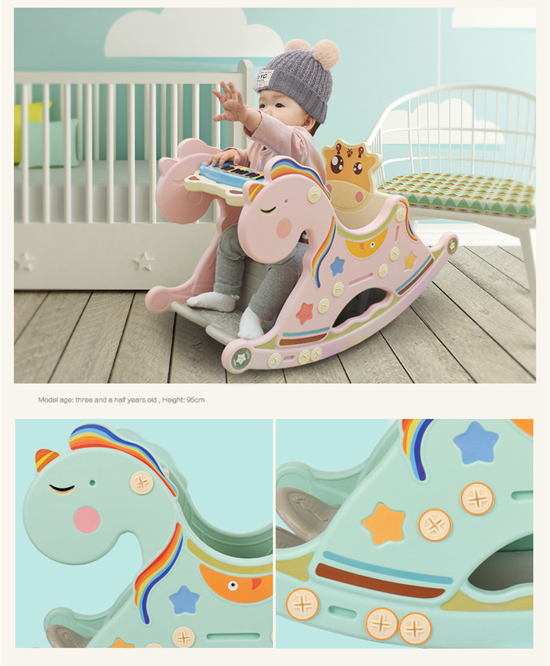 HTB107NbXyYrK1Rjy0Fdq6ACvVXaS Cradle Baby Rocking Chair Music Trojan Baby Chair Chaise Rocking Horse Toy Lounge Placarders Chair Cradle Newborn Emperorship