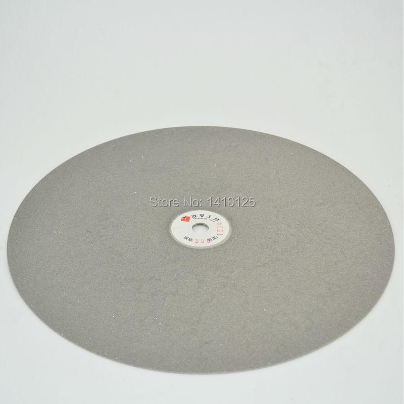 12 inch 300mm Grit 150 Diamond coated Flat Lap Disk Grinding Polishing Wheel Medium for Jewelry Glass Rock