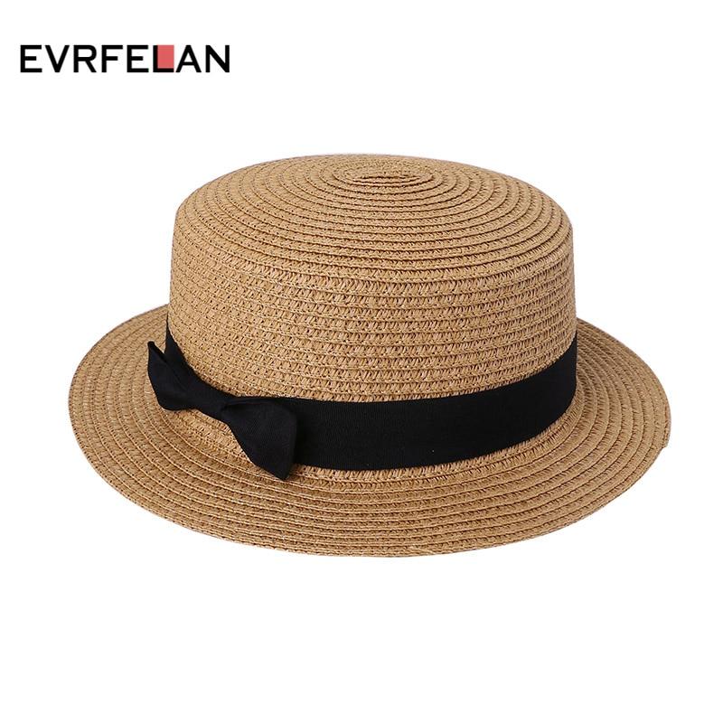 Casual High Quality Lady Straw Cap Sun Flat Hat Straw Hat Summer Cap ...