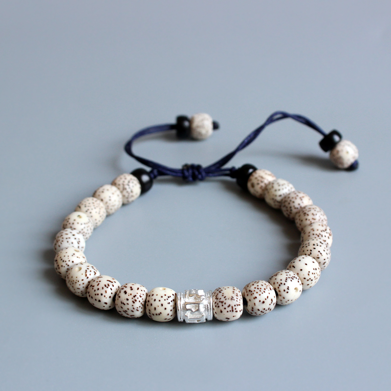 Eastisan 2017 Tibetan Buddhist Handmade Xingyue Bodhi Seed Mala Beads Bracelet OM Mani Padme Hum Charm Bracelet For Men Women