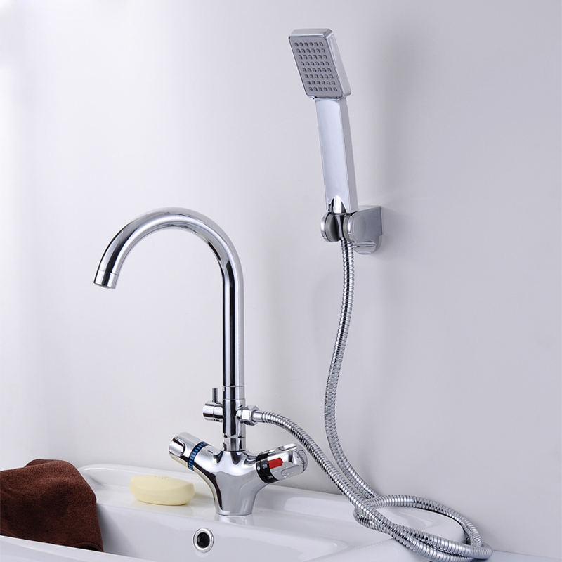 Modern Anti scald Thermostatic Mixer Kitchen Sink Faucet Single ...