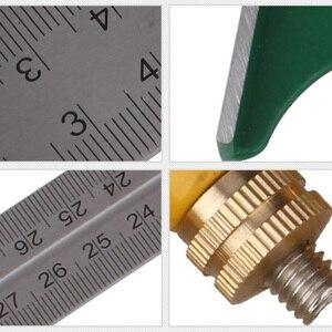 Image 5 - Neueste 300MM Professionelle Carpenter Werkzeuge Kombination Platz Winkel Lineal Edelstahl Winkelmesser Lineal