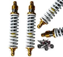 10mm Voorjaar 370mm Achter Schokdemper Schorsing Motorfiets voor Yamaha Honda Suzuki Kawasaki Trail Dirt Bike ATV Wit + goud