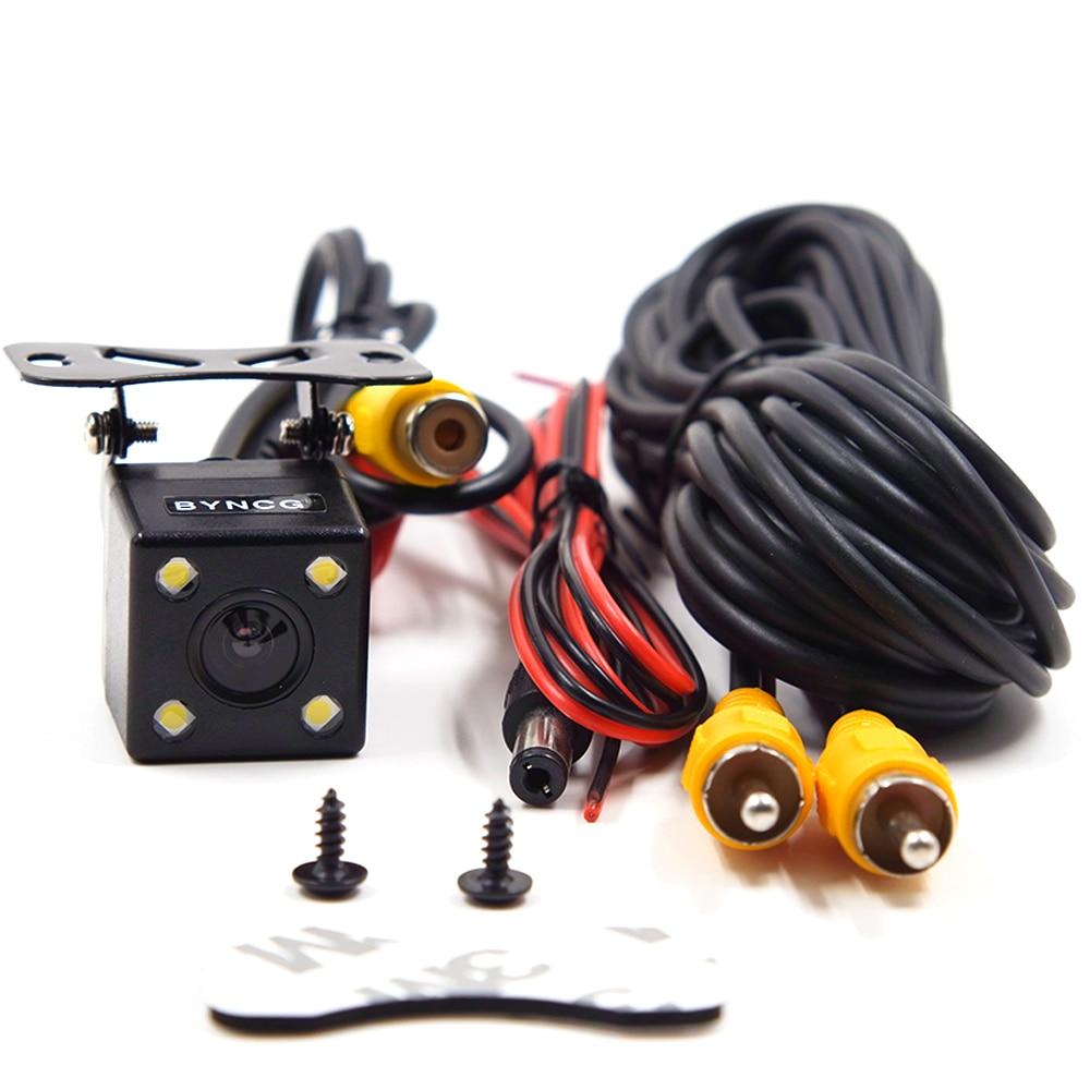 Estacionamento assistências retrovisor do carro revering reversa câmera de visão traseira ccd + led backup com 170 graus re para visão noturna automática