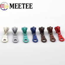 10pcs Meetee 5# Zipper Head for Resin Zip Pulerl Slider DIY Sewing Garment Home Clothes Bag Repair Kit DIYCraft Accessories F2-4