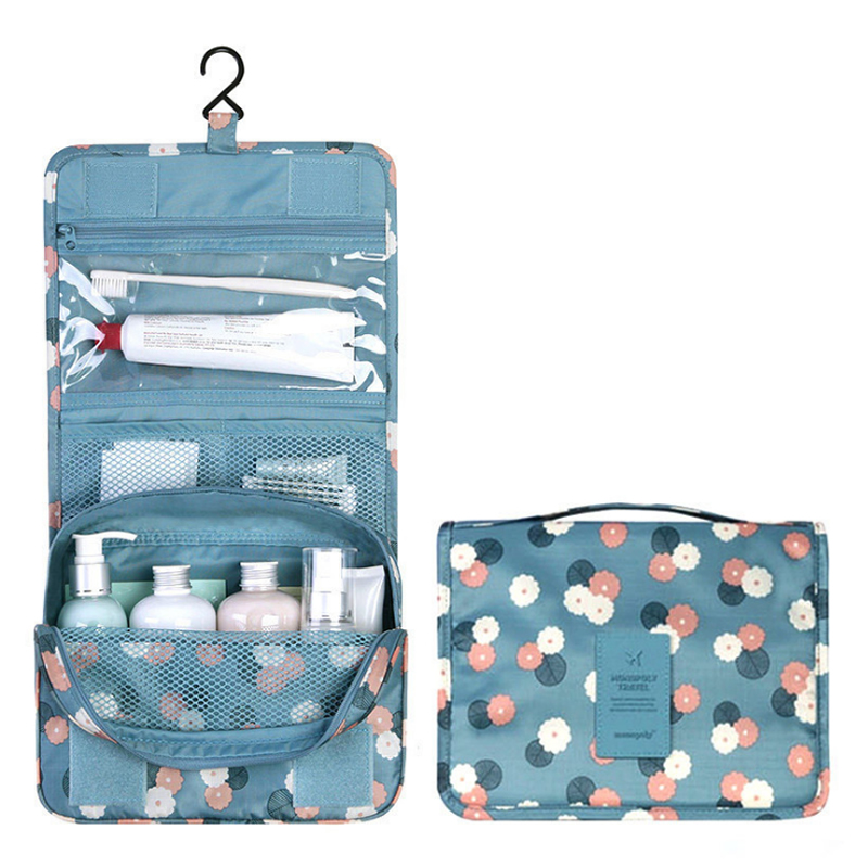 Function Travel Hanging Cosmetic Bag Women Zipper Make Up Case Organizer Storage Men Makeup Pouch Toiletry Beauty Wash Kit Bags