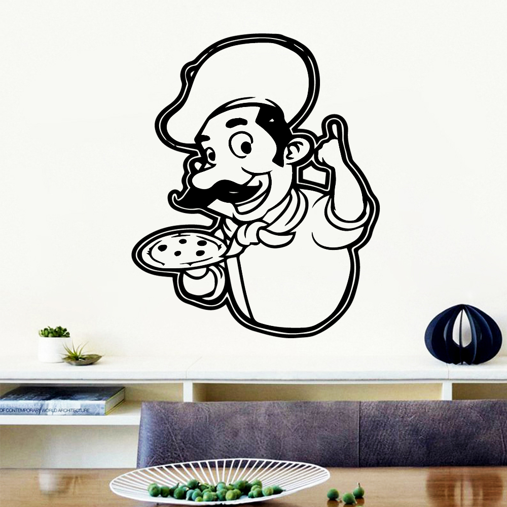 Exquisite pizza Wall Stickers Home Furnishing Decorative Sticker Removable Decoration Wallpaper