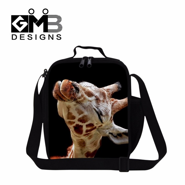 Animal cooler lunch bags for children giraffe Printing lunch coolers for adult insulated lunch bag pattern for teenager food bag