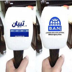 Image 5 - Linhuipad Custom spons mic foam voorruit Winden Handheld microfoon spons print logo voor outdoor interview
