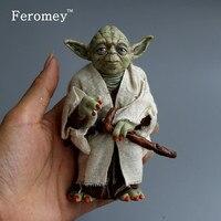 Promotion Star Wars Action Figure Toys Jedi Knight Master Yoda PVC Figures Toys 12cm Children Birthday