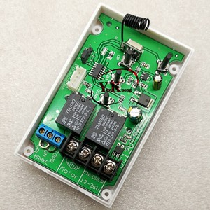 Image 2 - AC DC Motor Remote Switch Controller 12V 24V 36V Motor Forwards Reverse Up Down Wall Transmitter Manual Button Limit  Switch