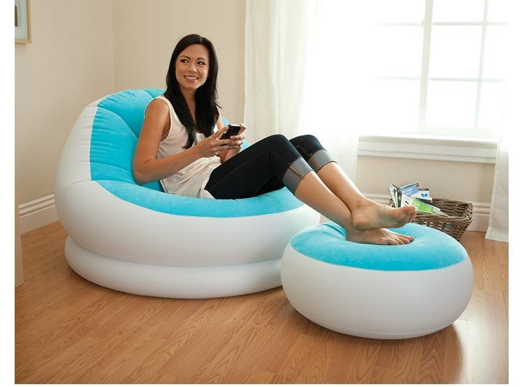 Inflatable sofa bed cushion sofa flocking thickening Leisure inflatable sofa chair цена