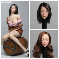 SUPER DUCK SDH009 1/6 Scale Asian Beauty Sleep Head Sculpt Carving A/B/C for 12inch Phicen Verycool Jiaoudoll Action Figure DIY