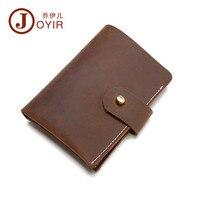 JOYIR Famous Brand High Quality Male Genuine Leather Money Clip Mini Hook Credit Card ID Coin