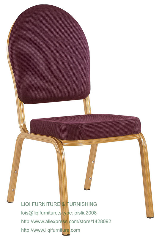 Wholesale Quality Strong Modern Stacking Aluminum Padded Wedding Chair LQ-L215