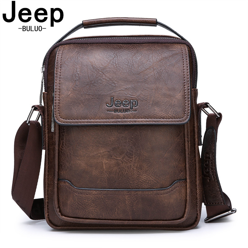 JEEP BULUO Brand Handbags Business Men Bag New Fashion Men's Shoulder Bags High Quality Leather Casual Messenger Bag New Style