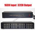 Композитный видеоплеер BNC 16 в 32 выход  усилитель 16 каналов на 32 канала  сплиттер для камеры видеонаблюдения  DVR системы  бесплатная доставка