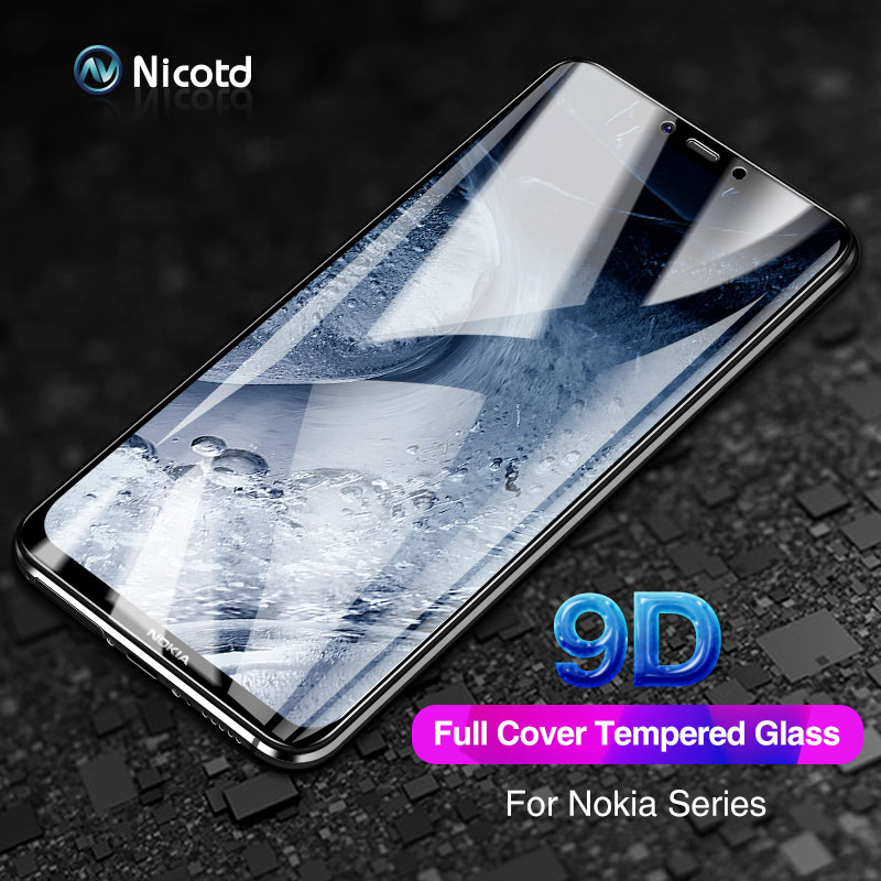 For Nokia 8.1 8 6 7 5 Nicotd 9D Full Cover Tempered Glass For Nokia 5.1 3.1 7.1 6.1 Plus Anti-Explosion Safety Screen Protector