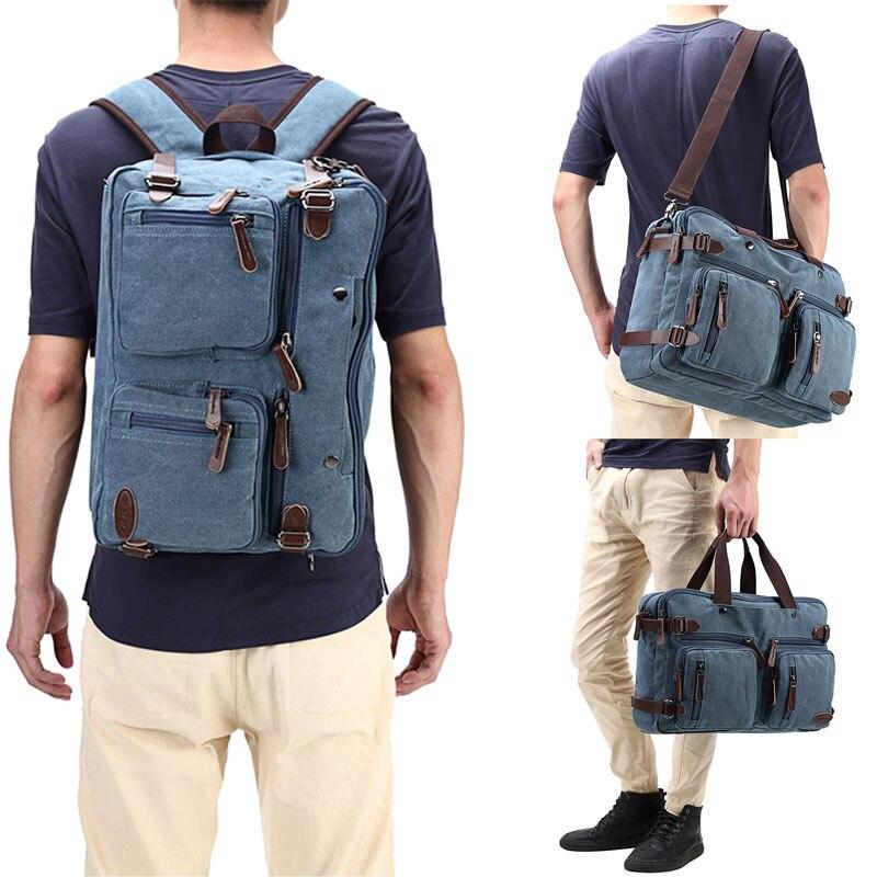 Гибридный Многофункциональный рюкзак для ноутбука Портфели сумка с плечевым ремнем холщовый рюкзак для Для мужчин, Для женщин, Колледж сту...