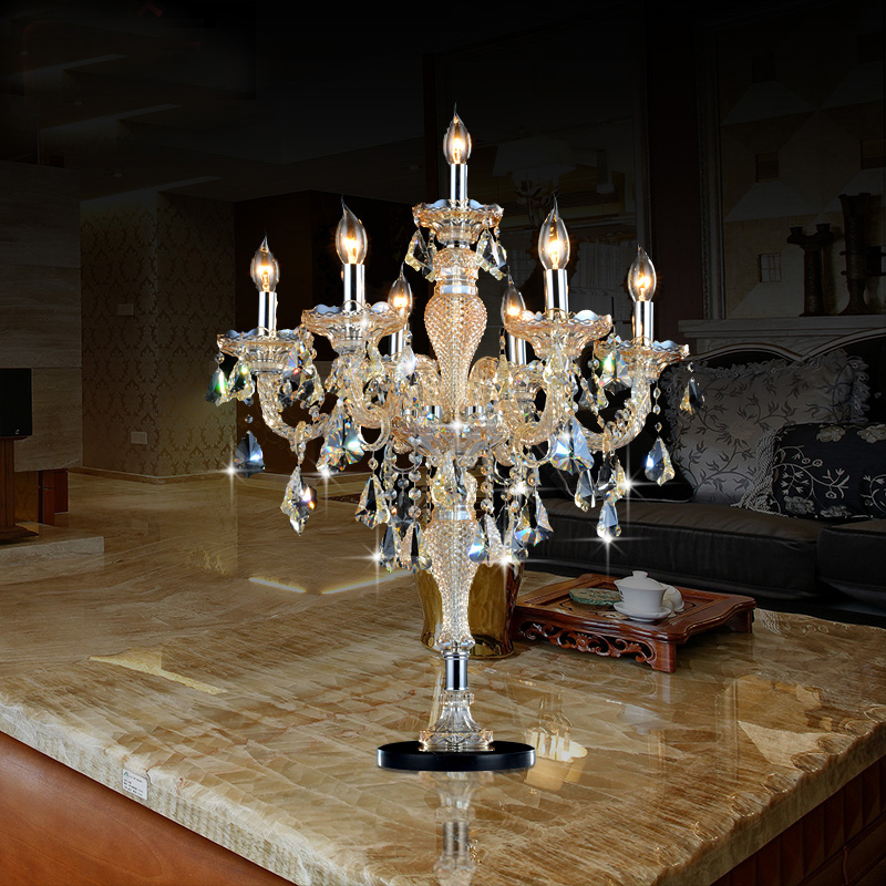 <font><b>decoration</b></font> <font><b>Italian</b></font> wedding candle holders Big candle table lamps large Gradient candelabra Crystal bedroom candle table light
