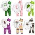 Newborn Baby Boys Girls Set Autumn Winter Bodysuit 3PCS  Baby Romper+Hat+Pants Outfit Cotton Baby Clothing Set