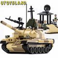 UTOYSLAND Toys for babies 3D Construction Early Eductional Toys Plastic Building Blocks Bricks T-62 Military Vehicles Tank toys