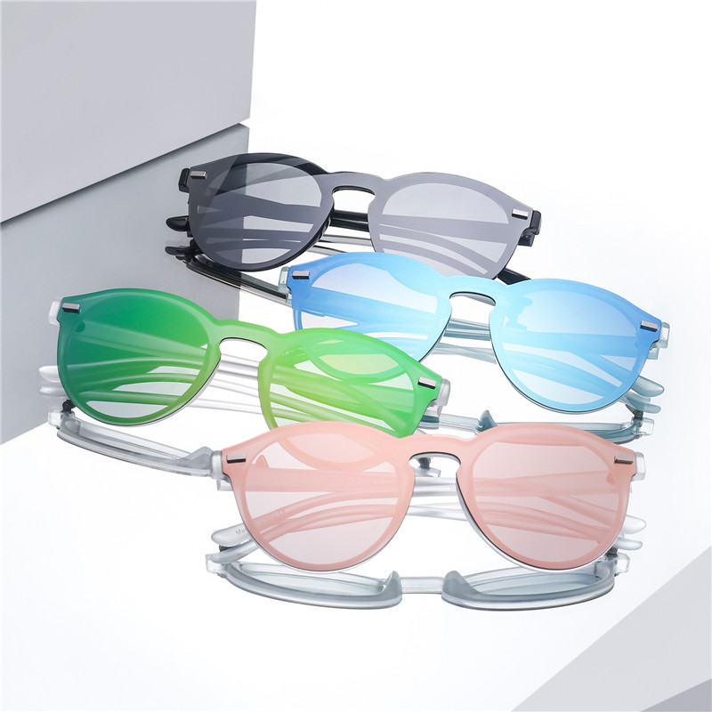 Jim Halo One Piece Polarized Rimless Mirror Reflective Circle Lens - Aksesori pakaian - Foto 6