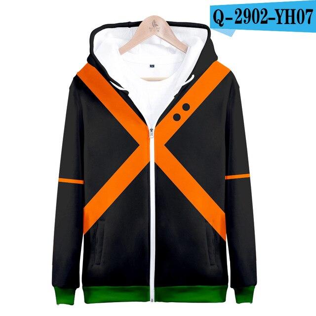My hero academia hoodies izuku midoriya shouto todoroki boku no hero academia Cosplay Costume Sweatshirt boys girl Zipper Jacket 8