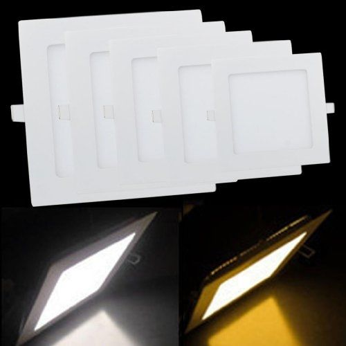 Pode ser escurecido LED Downlight 3 W 4 W 6 W 9 W 12 W 15 W/25 W Squre Ultrafinos smd 2835 luzes do painel de teto branco/branco quente free grátis