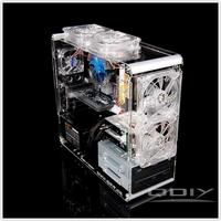 QDIY PC A006M Vertical Pure Transparent Chassis Acrylic Personalized PC Computer Case