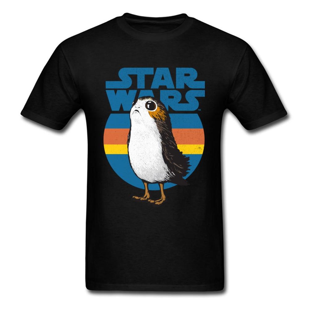 Star Wars Porg T Shirt Retro Logo 80's Gamer Tshirt Interesting Funny Design T-Shirt Full Cotton Brand New Fashion Men Tee Shirt