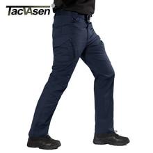 Tacvasen calças táticas dos homens da marinha multi bolsos rip stop carga calças de trabalho militar combate algodão calças airsoft exército caminhada