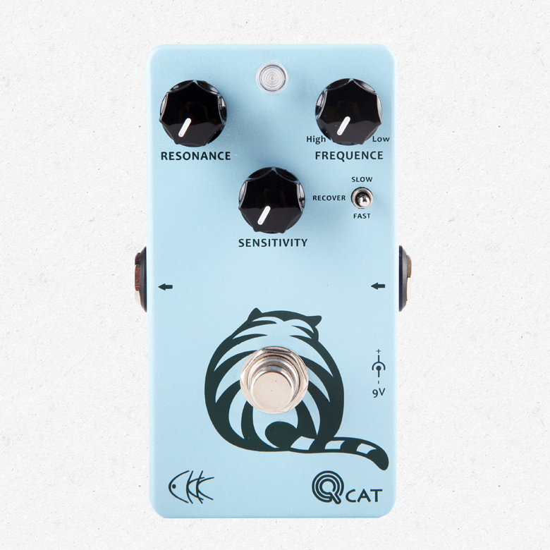 CKK Electronics Q-Cat Envelope Filter, a Special Wah Effect Guitar Pedal for Funk, Jazz, Blues vox wah v847 a