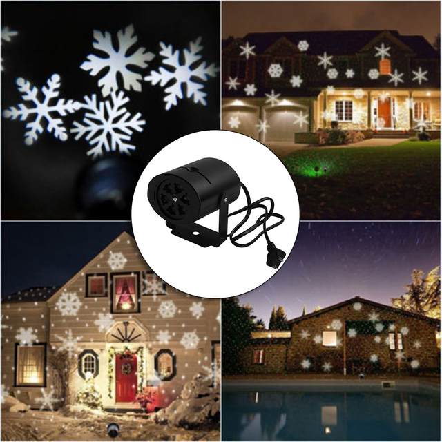 1pc outdoor moving snowflake led laser light projector holiday 1pc outdoor moving snowflake led laser light projector holiday landscape spotlight xmas garden lamp with two aloadofball Choice Image