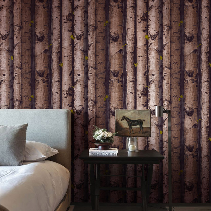 3D Wall Paper Pattern Waterproof Birch Trees Lever Stakes Wall Paper Background Wallpaper the walnut trees of altenburg paper only
