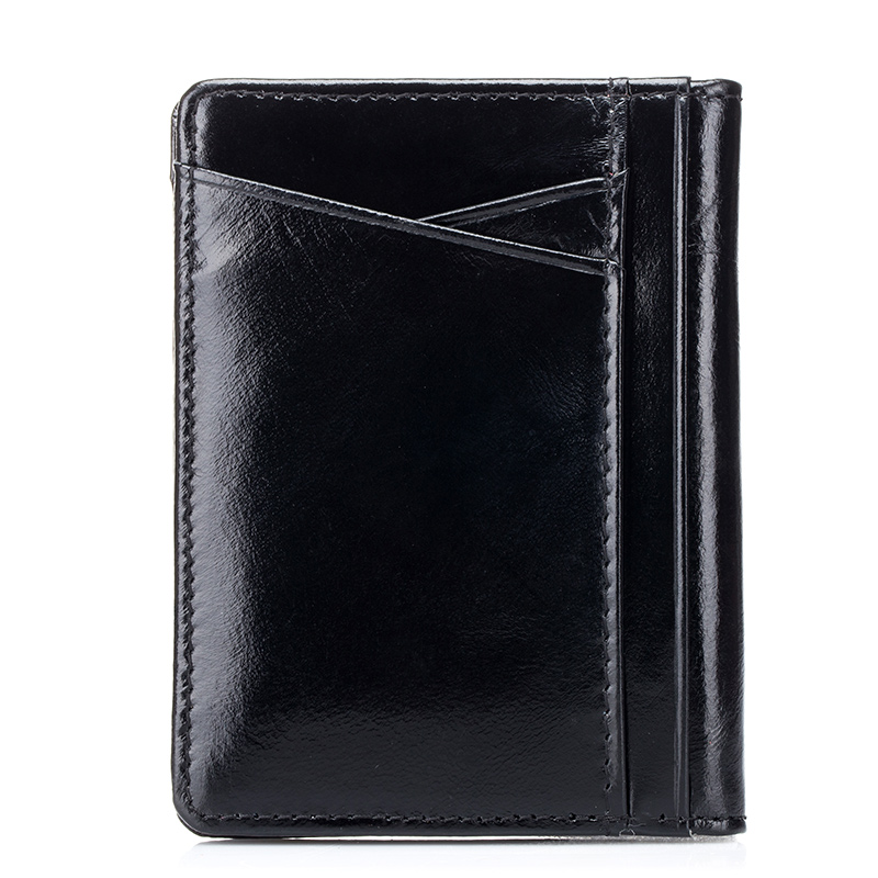 New Arrivals High Quality Genuine Oil Waxing Leather Guaranteed 2018 Hot Brand Designer Unisex Card Case Best Price On Sales