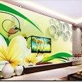 ©Beibehang фрески гостиной обои белые цветы заказ росписи ...